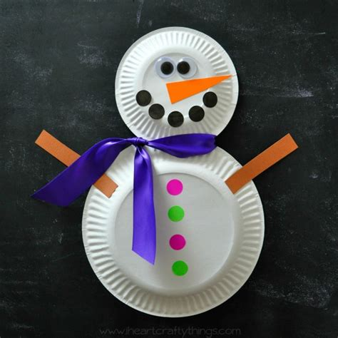 snowman paper plate craft paper plate snowman craft i crafty things