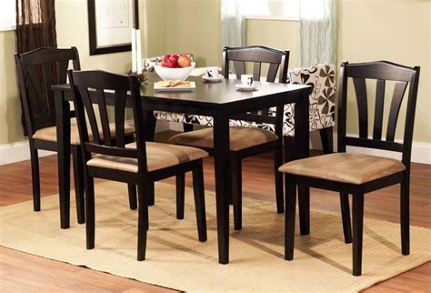 kitchen dining room furniture 5 dining set wood breakfast furniture 4 chairs and
