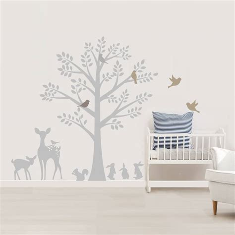 nursery tree stickers for walls vintage tree wall stickers by littleprints