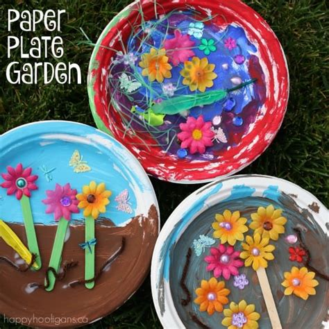 garden craft ideas for paper plate garden a letter quot g quot craft happy hooligans