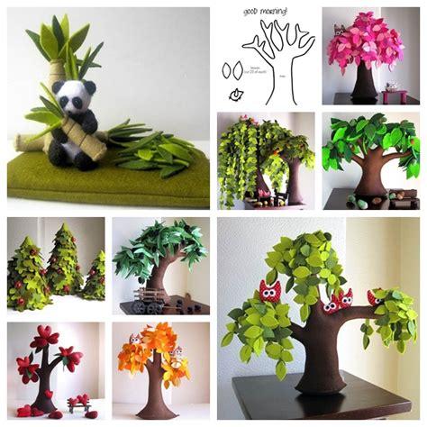 handmade tree wonderful diy handmade felt trees wonderfuldiycom