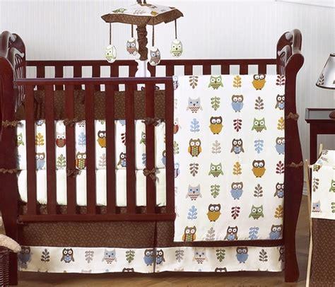 owl boy crib bedding owl baby bedding 9 pc crib set only 189 99