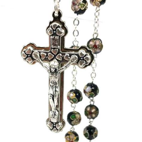 cloisonne rosary black cloisonne rosary