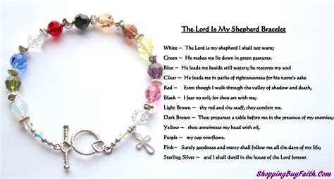 beaded meaning psalm 23 and sterling silver beaded toggle closure
