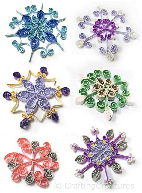 paper quilling crafts for quilling snowflakes grid by cecelia louie craftsy