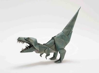origami t rex t rex rawr this one s folded by joseph wu and it s on