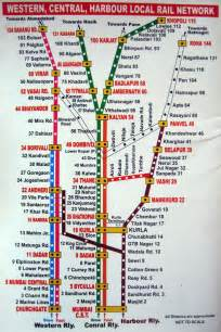 Indian States printable mumbai local train map for tourists