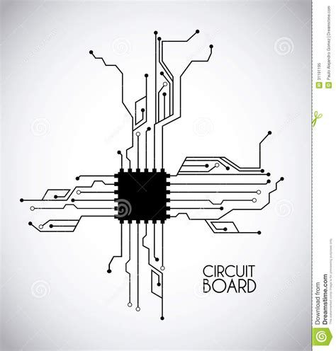 chip and circuit royalty free stock photo image 31191195