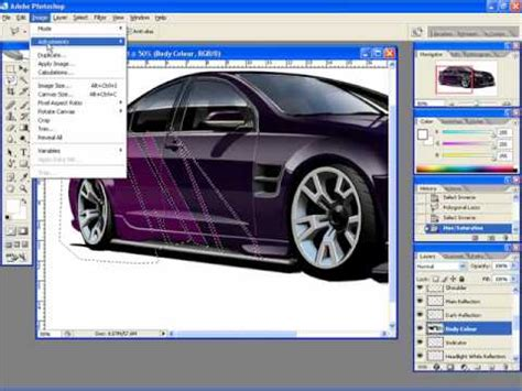 Car Photoshop Program by Adding Graphics To A Car Rendering In Photoshop