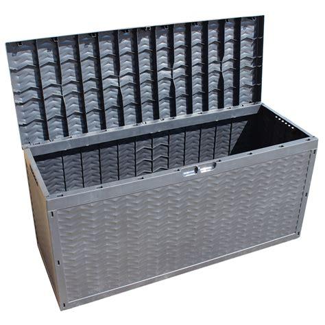 plastic patio storage boxes storage outdoor box garden patio chest plastic lid container cargobox 320 litre ebay