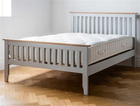 painted bed frames dreamworks banbury acacia grey painted bed frame buy