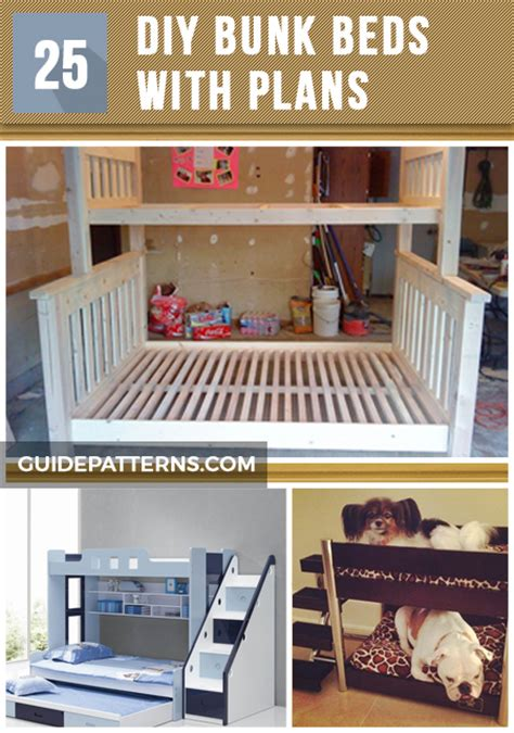 diy bunk beds 25 diy bunk beds with plans guide patterns