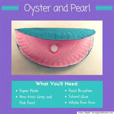 oyster paper crafts 6 summer crafts for you and your fishes huffpost