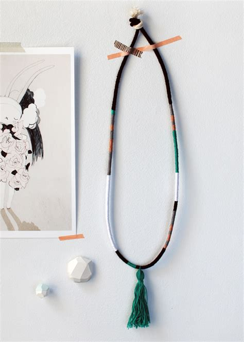 make my own jewelry create your own gorgeous wrapped tassel necklace