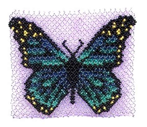 beaded butterfly pattern butterfly pocket blue beading patterns and kits by