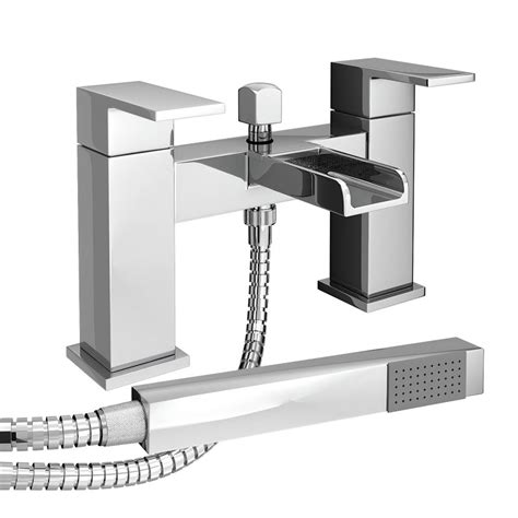 bathroom mixer shower taps plaza waterfall bath shower mixer with shower kit chrome