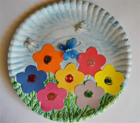 paper plate arts and crafts for paper plate garden gardens and to