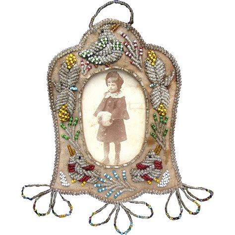 beaded picture frames american iroquois beaded picture frame with song