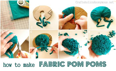how to make fabric how to make a fabric pom pom