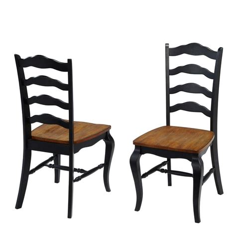 and black dining chairs home styles countryside rubbed black oak dining