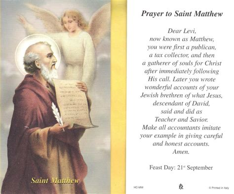 where can i buy prayer st matthew with prayer to matthew paperstock holy