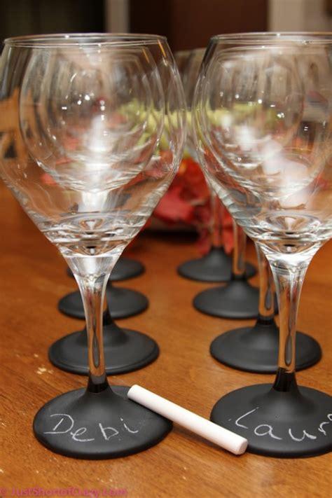 diy chalkboard label wine glasses how to make diy chalkboard painted wine glasses how to