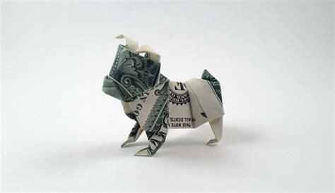 origami bulldog how to make an origami dollar bulldog crafts on