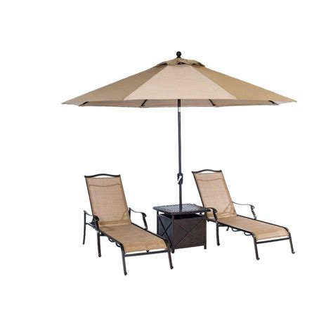 4 patio set with umbrella hanover monaco 4 patio chaise lounge set with 11 ft