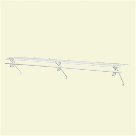Closetmaid 3 Foot Wire Utility Shelf Closetmaid Superslide 72 In X 12 In Ventilated Wire