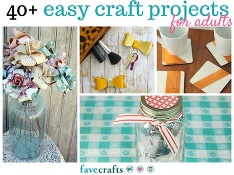 simple paper craft ideas for adults 44 easy craft projects for adults favecrafts