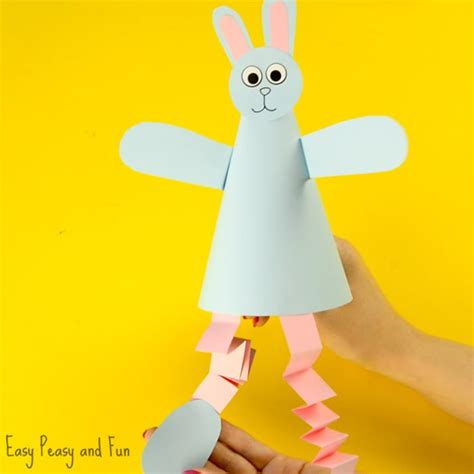 paper cone craft paper cone bunny craft easy peasy and