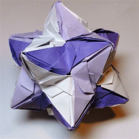dodecahedron origami origami stellated dodecahedron by pecatrix on deviantart