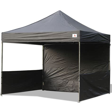 I Canopy by Abccanopy 10x10 Deluxe Black Pop Up Canopy Trade Show Both