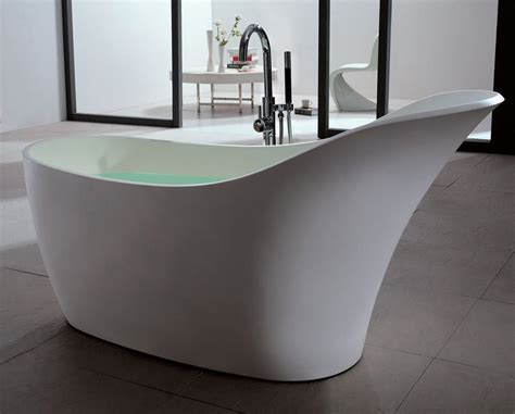 ma salle de bain design osez la baignoire ilot en solid surface