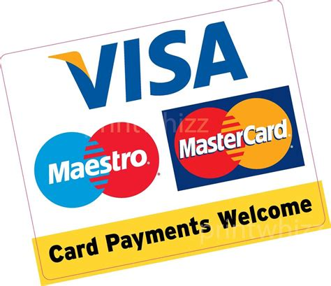 card payments card payments welcome large square 150x120mm credit card