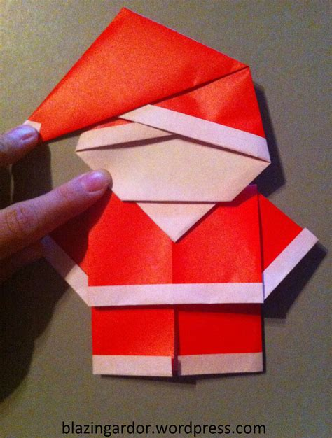 santa origami origami santa how to guide blazing ardor