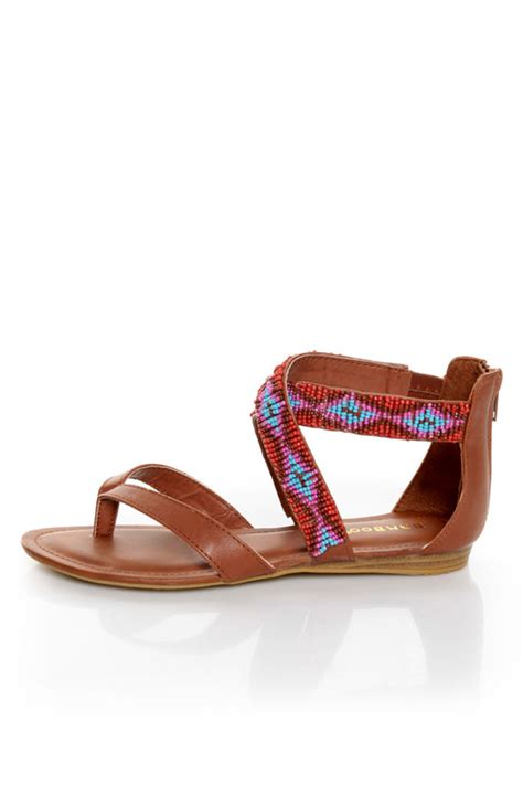 beaded gladiator sandals bamboo 63 chestnut beaded gladiator sandals 36 00