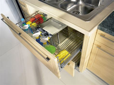 kitchen sink pull out storage pull out sink cupboard modern kitchen toronto by