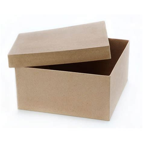 paper mache craft boxes square paper mache box with lid 9 x 9 x 4 inches