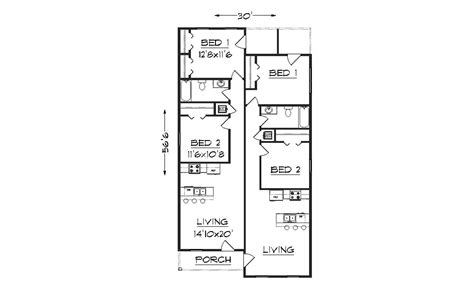 duplex plans for narrow lots narrow lot duplex plans