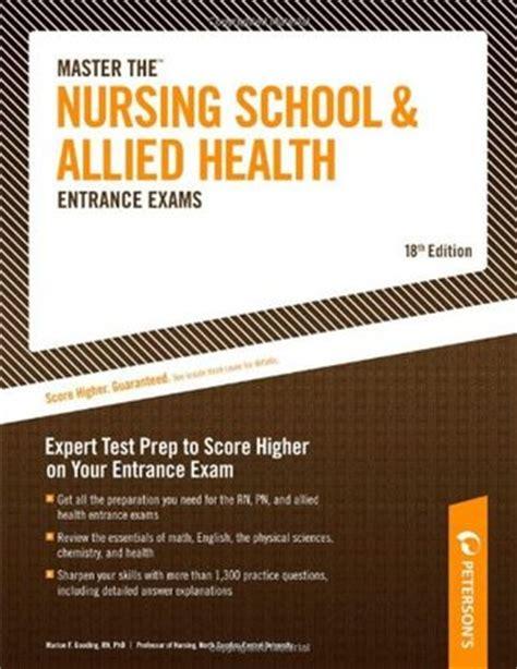 nursing school entrance exams general review for the teas hesi pax rn kaplan and psb rn exams kaplan test prep master the nursing school and allied health entrance exams