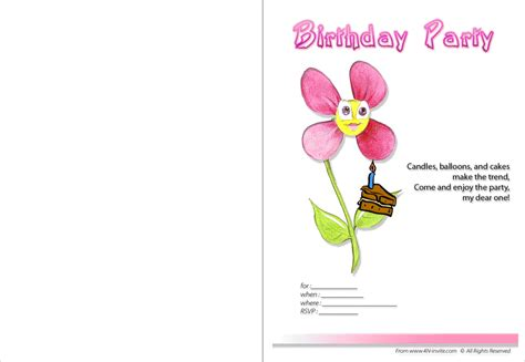make birthday invitation cards for free printable printable birthday invitations templates make your own