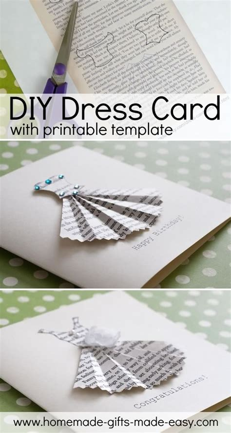 template to make a card book print dress card template