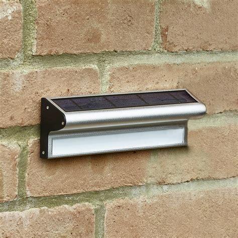 solar garden wall lights uk kensington solar led wall light lighting direct