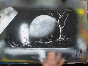 spray paint moon how to spray paint moonlight spacepainting