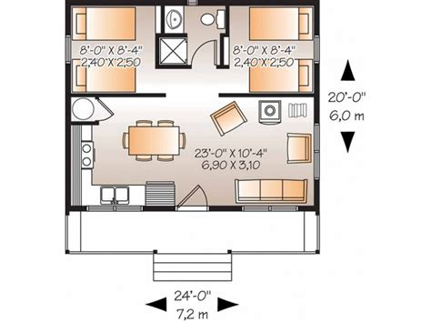 two bedroom home plans eplans country house plan two bedroom country 480