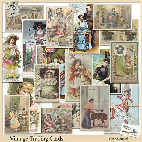 vintage trade vintage trading cards by lynne anzelc design