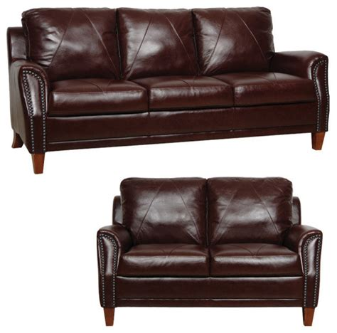 traditional living room furniture sets genuine italian leather sofa and loveseat in