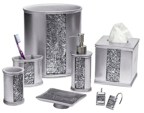 black and silver bathroom accessories sinatra silver bling bath accessories bedbathhome