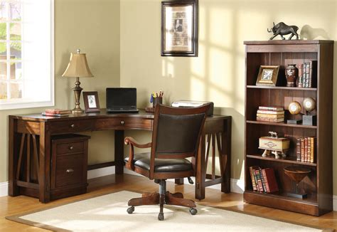 home office wood desk and traditional l shaped oak wood home office corner
